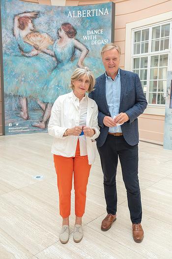 Xenia Hausner Empfang - Albertina, Wien - Di 08.06.2021 - Xenia HAUSNER, Klaus Albrecht SCHRÖDER15