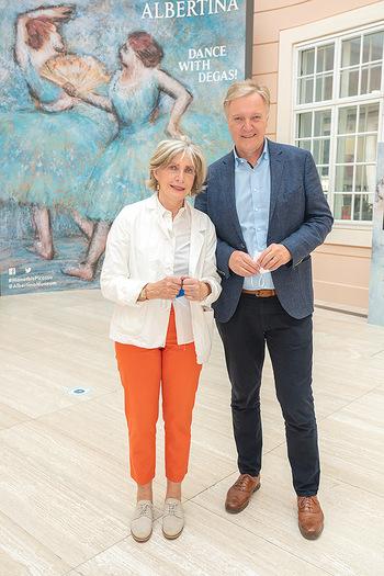 Xenia Hausner Empfang - Albertina, Wien - Di 08.06.2021 - Xenia HAUSNER, Klaus Albrecht SCHRÖDER16