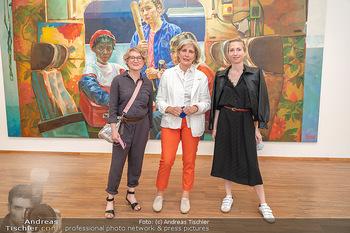 Xenia Hausner Empfang - Albertina, Wien - Di 08.06.2021 - Schwestern Jessica, Tanja und Xenia HAUSNER36