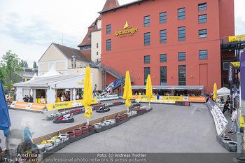 Art of Cart Formular Gastronomie - Ottakringer Brauerei, Wien - Sa 12.06.2021 - Blick auf die Rennstrecke, Rennbahn, Rennautos, Carts48
