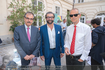 Mauro Maloberti Geburtstag - Pizzeria Regina Margherita, Wien - Mi 16.06.2021 - Baker Fattah HUSSEN, Mauro MALOBERTI, Leigh TURNER6