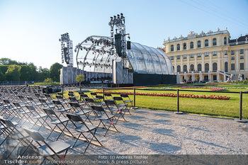Sommernachtskonzert 2021 - Schönbrunn, Wien - Fr 18.06.2021 - covid19-konforme Bestuhlung, Sitze mit Abstand für das Publikum2