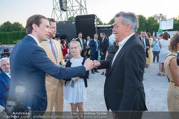 Sommernachtskonzert 2021 - Schönbrunn, Wien - Fr 18.06.2021 - Sebastian KURZ begrüßt Werner KOGLER, Alexis VON HOENSBROECH m57