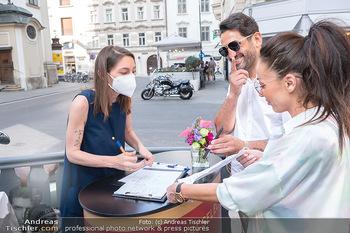 Thai Select - Restaurand Patara - Mi 23.06.2021 - Ines und Fadi MERZA beim Check-In mit Corona 3G-Nachweis14