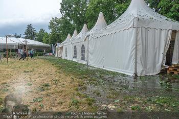 Sommernachtskomödie - Unwetter - Rosenburg, Niederösterreich - Do 24.06.2021 - Unwetterspuren - kurz bevor der nächste Wolkenbruch kam - kurz 4
