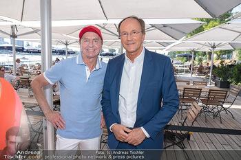 Christina Lunger Geburtstag - Strandcafe alte Donau, Wien - Di 29.06.2021 - Heribert KASPER, Ernst MINAR44