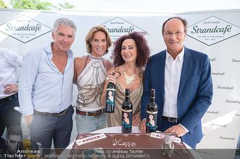 Christina Lunger Geburtstag - Strandcafe alte Donau, Wien - Di 29.06.2021 - Kathi STUMPF, Alex BEZA, Christina LUGNER, Ernst MINAR60