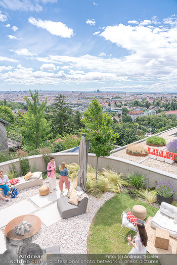 Lillet Les Ateliers Brunch - Privatvilla, Wien - Do 01.07.2021 - Terrasse mit Blick über Wien22