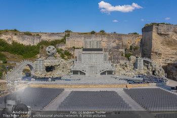 Bühne Turandot - Steinbruch St. Margarethen, Burgenland - Sa 03.07.2021 - Bühnenbild Turandot Römersteinbruch St. Margarethen 202128
