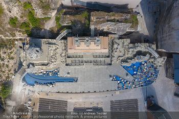 Bühne Turandot - Steinbruch St. Margarethen, Burgenland - Sa 03.07.2021 - Bühnenbild Turandot Römersteinbruch St. Margarethen 202147
