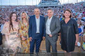 Premiere West Side Story - Mörbisch - Do 08.07.2021 - Hans Peter DOSKOZIL mit Laura und Julia, Werner KOGLER, Sabine J90