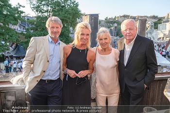 Premiere Turandot - Steinbruch St. Margarethen, Burgenland - Mi 14.07.2021 - Franz und Christine VRANTIZKY, Claudia VRANITZKY mit Peter100
