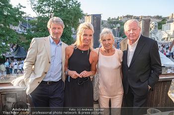 Premiere Turandot - Steinbruch St. Margarethen, Burgenland - Mi 14.07.2021 - Franz und Christine VRANTIZKY, Claudia VRANITZKY mit Peter101