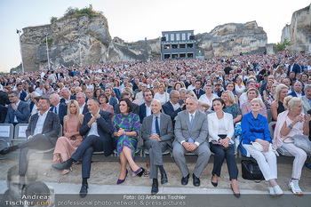 Premiere Turandot - Steinbruch St. Margarethen, Burgenland - Mi 14.07.2021 - 1. Reihe, VIPs, Publikum, Zuschauer, DOSKOZIL, OTTRUBAY, KÖSTIN159