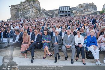 Premiere Turandot - Steinbruch St. Margarethen, Burgenland - Mi 14.07.2021 - 1. Reihe, VIPs, Publikum, Zuschauer, DOSKOZIL, OTTRUBAY, KÖSTIN160