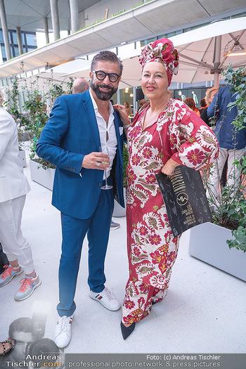 Mode Wien Magazin - Hotel Andaz, Wien - Di 20.07.2021 - Mauro MALOBERTI, Andrea BUDAY269