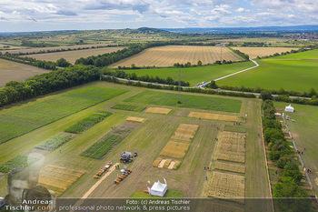 Biofeldtage Tag 1 - Seehof, Donnerskirchen - Fr 06.08.2021 - Übersichtsfoto Luftbild Messegelände von oben, Landschaft, Aus328