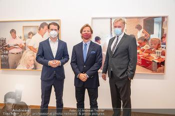 Sebastian Kurz Privatführung - Albertina, Wien - Mo 23.08.2021 - Trevor Dow TRAINA, Klaus Albrecht SCHRÖDER, Sebastian KURZ1