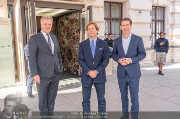 Sebastian Kurz Privatführung - Albertina, Wien - Mo 23.08.2021 - Trevor Dow TRAINA, Klaus Albrecht SCHRÖDER, Sebastian KURZ22
