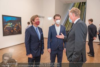 Sebastian Kurz Privatführung - Albertina, Wien - Mo 23.08.2021 - Trevor Dow TRAINA, Klaus Albrecht SCHRÖDER, Sebastian KURZ30