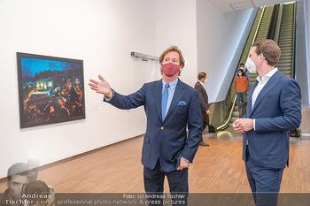 Sebastian Kurz Privatführung - Albertina, Wien - Mo 23.08.2021 - Trevor Dow TRAINA, Sebastian KURZ32