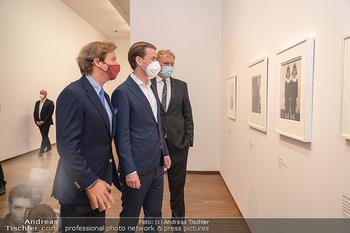 Sebastian Kurz Privatführung - Albertina, Wien - Mo 23.08.2021 - Trevor Dow TRAINA, Klaus Albrecht SCHRÖDER, Sebastian KURZ35