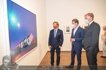 Sebastian Kurz Privatführung - Albertina, Wien - Mo 23.08.2021 - Trevor Dow TRAINA, Klaus Albrecht SCHRÖDER, Sebastian KURZ42