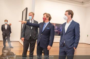 Sebastian Kurz Privatführung - Albertina, Wien - Mo 23.08.2021 - Trevor Dow TRAINA, Klaus Albrecht SCHRÖDER, Sebastian KURZ47