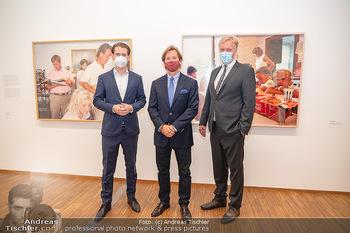 Sebastian Kurz Privatführung - Albertina, Wien - Mo 23.08.2021 - Trevor Dow TRAINA, Klaus Albrecht SCHRÖDER, Sebastian KURZ48