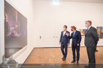 Sebastian Kurz Privatführung - Albertina, Wien - Mo 23.08.2021 - Trevor Dow TRAINA, Klaus Albrecht SCHRÖDER, Sebastian KURZ49