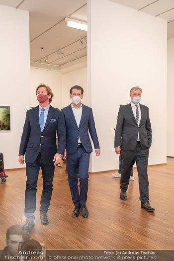 Sebastian Kurz Privatführung - Albertina, Wien - Mo 23.08.2021 - Trevor Dow TRAINA, Klaus Albrecht SCHRÖDER, Sebastian KURZ50