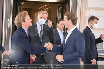 Sebastian Kurz Privatführung - Albertina, Wien - Mo 23.08.2021 - Trevor Dow TRAINA, Klaus Albrecht SCHRÖDER, Sebastian KURZ59