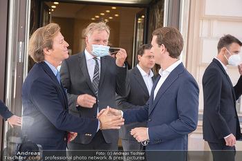 Sebastian Kurz Privatführung - Albertina, Wien - Mo 23.08.2021 - Trevor Dow TRAINA, Klaus Albrecht SCHRÖDER, Sebastian KURZ60
