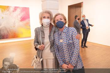 Ausstellungseröffnung Hubert Scheibl - Albertina, Wien - Mo 30.08.2021 - Silvie EISENBURGER-KUNZ, Karola KRAUS12