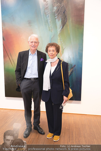 Ausstellungseröffnung Hubert Scheibl - Albertina, Wien - Mo 30.08.2021 - Karlheinz und Agnes ESSL15