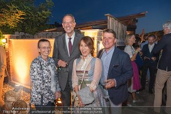 Mikl-Leitner Heurigenempfang - Der Fuchs Heuriger, Maria Enzersdorf - Do 09.09.2021 - Heinz FAßMANN (FASSMANN) mit Ehefrau Sigrid, Christian SPATZEK 1