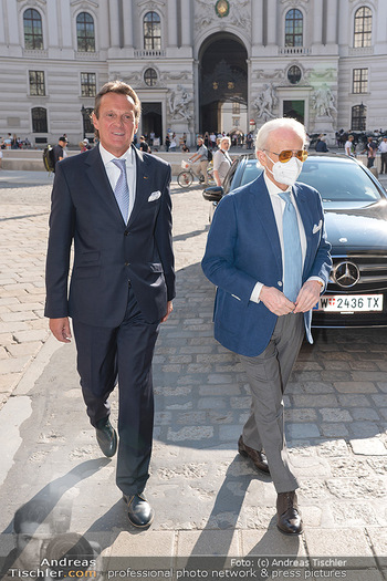 Jose Carreras Pressetermin - Chopard - Sa 11.09.2021 - Ankunft Jose CARRERAS am Kohlmarkt, Thomas KOBLMÜLLER9