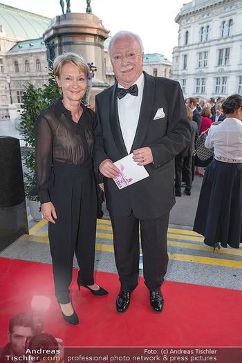 Fundraising Dinner - Albertina, Wien - Di 14.09.2021 - Michael HÄUPL mit Ehefrau Barbara HÖRNLEIN32