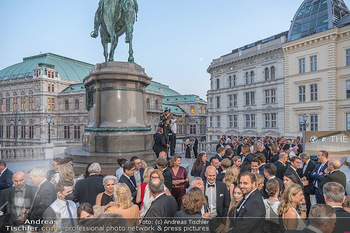 Fundraising Dinner - Albertina, Wien - Di 14.09.2021 - Gäste beim Cocktailempfang, Sommerfest, Terrasse, Publikum63