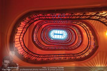 Eröffnung - Hotel Motto, Wien - Fr 01.10.2021 - Stiegenhaus in altem Stil, Nostalgie, Architektur, Treppenhaus3