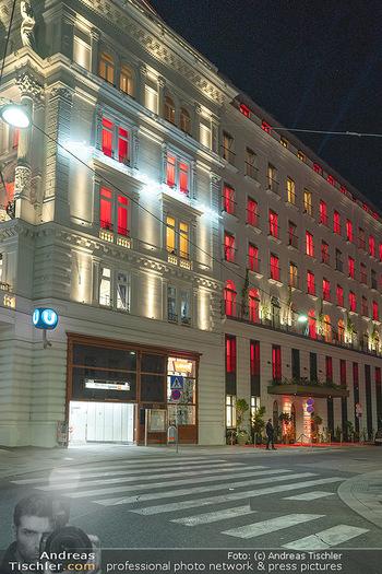 Eröffnung - Hotel Motto, Wien - Fr 01.10.2021 - Hotel Motto Vienna von außen bei Nacht170