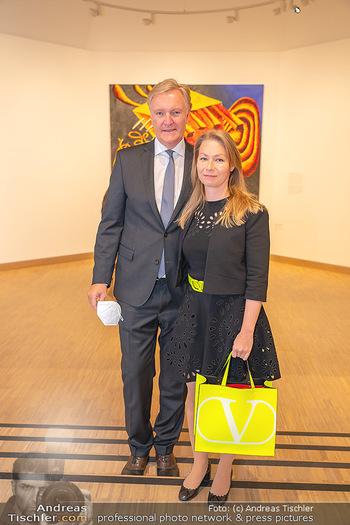 the 80s Ausstellungseröffnung - Albertina Modern Museum, Wien - Sa 09.10.2021 - Klaus Albrecht und Nina SCHRÖDER56