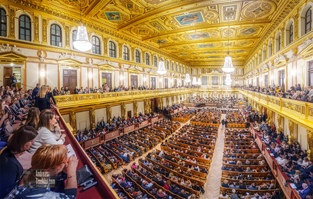 Goldener Musikvereinssaal, Musikverein Wien, Wiener Philharmoniker, Philharmonikerball - Goldener Musikvereinssaal, Musikverein Wien, Wiener Philharmonik by Andreas Tischler