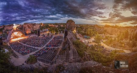 Panoramafoto Römersteinbruch St. Margarethen, Festspiele, Oper im Freien - Panoramafoto Römersteinbruch St. Margarethen, Festspiele, Oper  by Andreas Tischler