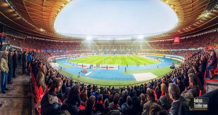 Ernst Happel Stadion Wien, Panoramafoto - Ernst Happel Stadion Wien, Panoramafoto by Andreas Tischler