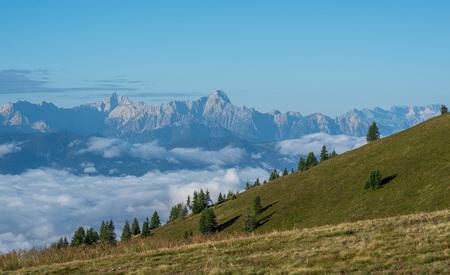 Ausblick vom Berg ins Tal in der Morgensonne bei Nebel im Tal - Ausblick vom Berg ins Tal in der Morgensonne bei Nebel im Tal by Andreas Tischler
