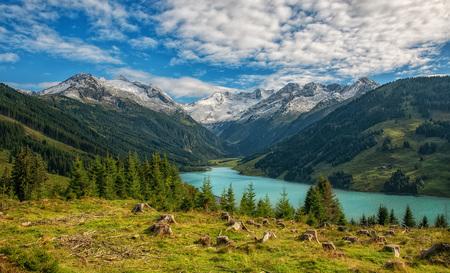 Österreich Natur Landschaft Tourismus Urlaub - Tirol Speicher See Durlaßboden Stausee Krimml Kirche Idylle Alp by Andreas Tischler