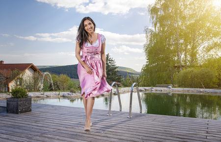 Fotoshooting mit Frau im Dirndl zum Thema Sommer und Urlaub in Österreich - Fotoshooting mit Katharina zum Thema Sommer, Tracht, Dirndl und  by Andreas Tischler