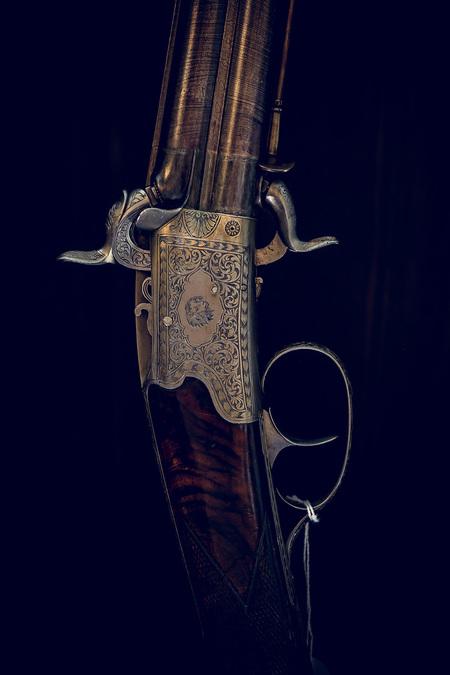Innenarchitektur Springer´s Erben Museum - alte Waffe, Gewehr, Pistole Flinte, Jagdwaffe, Kanone, Revolver, by Andreas Tischler