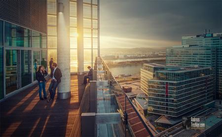 Feierabend in der City, moderne Arbeitsplätze, Donauplatte Wien, TechGate Vienna - Feierabend in der City, moderne Arbeitsplätze, Donauplatte Wien by Andreas Tischler